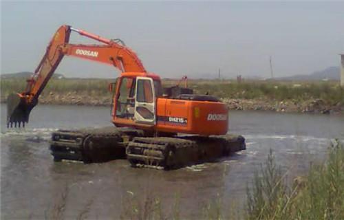 水陆两用挖机租赁嘉兴海宁新款水陆两用挖机