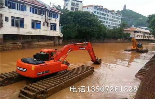 水陆两用挖机租赁楚雄彝族自治州大姚2019水路两栖挖机有卖