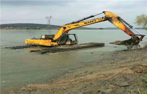 水上挖机租赁杭州临安水上挖机浮箱如何联系