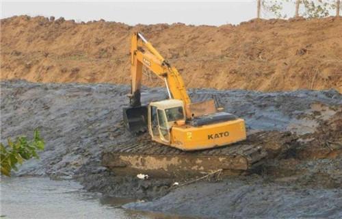水陆挖掘机出租定西渭源专用水上挖机公司地址