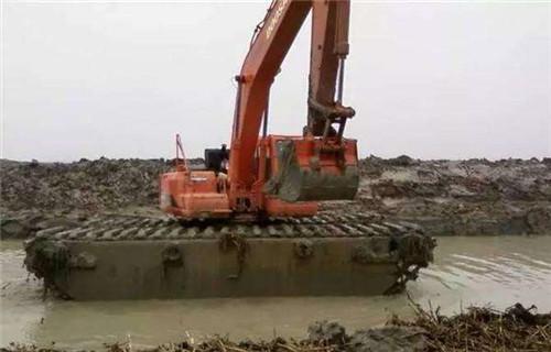 水上挖机出租阿勒泰地区吉木乃水上挖机浮箱生产基地