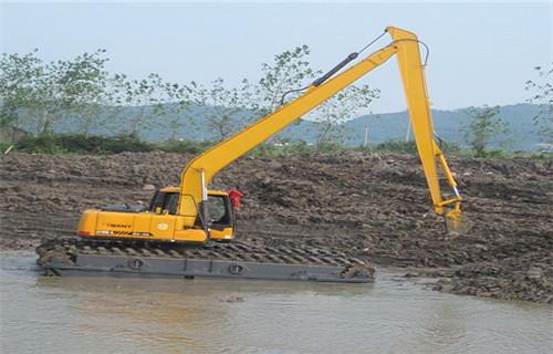 四川宜宾翠屏两栖挖掘机租赁大型水上钩机设计