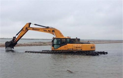 安徽阜阳颍州两栖挖掘机出租专用水上挖机制作