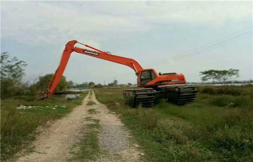 吉林白城水陆两用挖机出租有卖