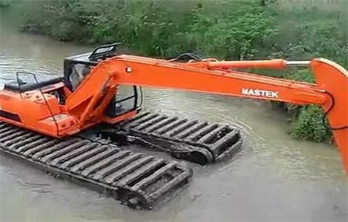 水上挖机租赁湛江赤坎大型水上钩机批发