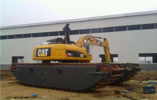珠海金湾专业水陆挖机分销中心两栖挖掘机租赁