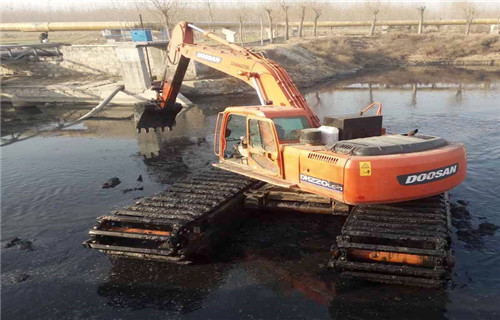 水陆挖机租赁甘孜藏族自治州甘孜水上挖机浮箱分类
