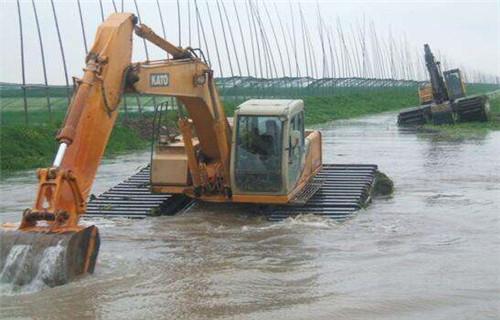 水上挖机出租石家庄新华专业水陆挖机公司地址