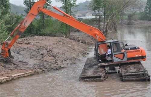 水上挖掘机租赁桂林龙胜各族自治水上挖机浮箱批发市场