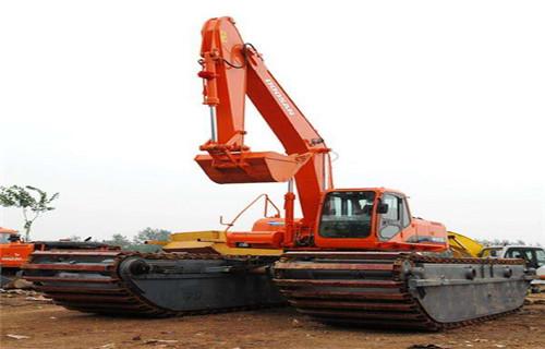 湿地沼泽地挖掘机租赁阳江阳西专用水上挖机优惠价多少?
