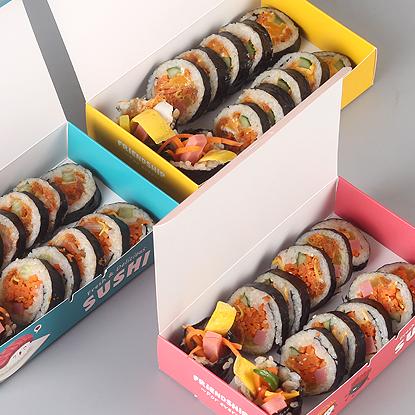 杭州寿司盒 外卖便当紫菜包饭盒 一次性饭盒日式寿司饭团打包盒包装盒